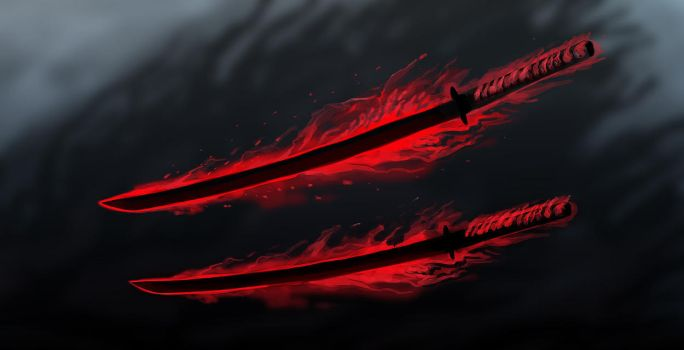 Scaraceus - The Demon Blades by OrmIrian