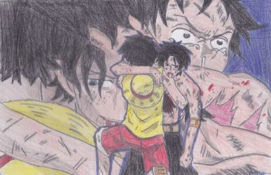 Ace and Luffy by misayurie28