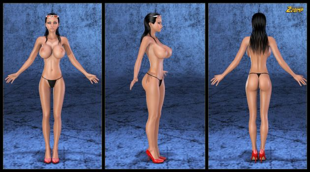 Nico Robin ... Two Years Later WIP 01 by Zzomp