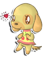 Favourite villager 1: Goldie by KiwiBeagle