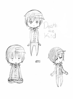Death the Kid chibi by flipswitch42