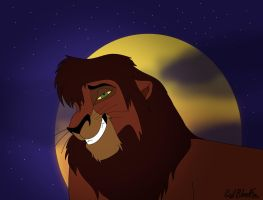 Kovu's Smirk by WhiteBleedingFox