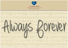 Always Forever Font by friabrisa