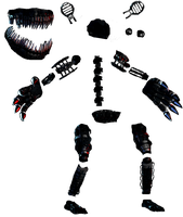 (Photoshop resources 9) Nightmare's endoskeleton by De-activating