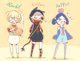 Pokemon Sun and Moon Gijinkas! by BijouBlue