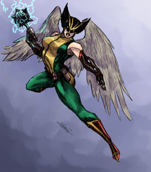 Hawkgirl Colored by GhostlyElegance