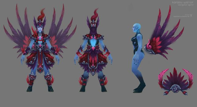 Vengeful Spirit - Karasu Warrior Dota 2 Concept Ar by vertry