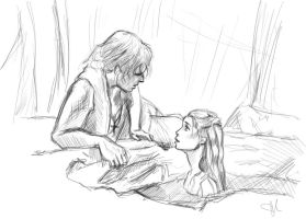 Philip and Syrena sketch by ChristyTortland