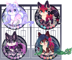 Kitsunet Adoptable Auction (SOLD!) by Miizue
