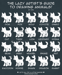 The Lazy Artist's Guide to Drawing Animals by raizy