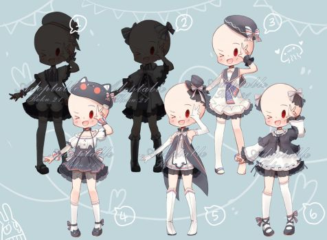 [closed] Adoptable: Outfits XIII by ZylenXia