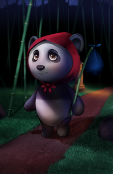 Panda - 3D Paintover Course by Naderia