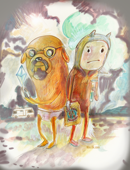 Breaking Bad Adventure Time by miorats