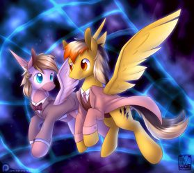 Commission: Time Space by SkyHeavens
