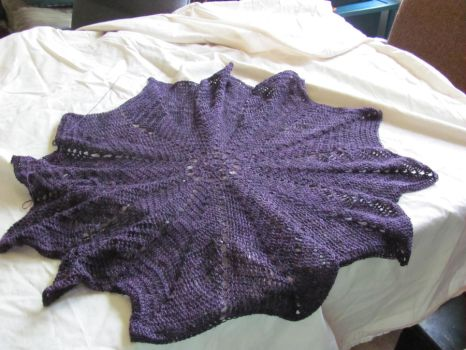 Pulsar Shawl Commission WIP by Lace-Sylph