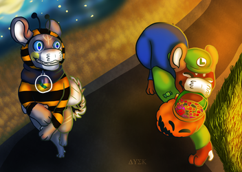 Bee and Luigi // Halloons Eve Event part 2 by DuskRipper