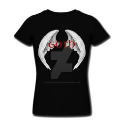 Goth Wings T-shirt by SusanaDS-Stocks