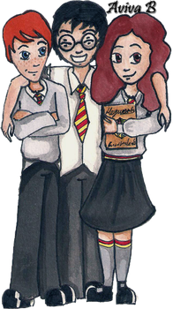 HP: The Golden Trio by hatoola13