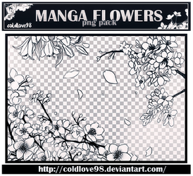 Manga Flowers Png's Pack | ColdLove98 by ColdLove98