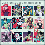 2017 Summary of Art by ZoeStanleyArts
