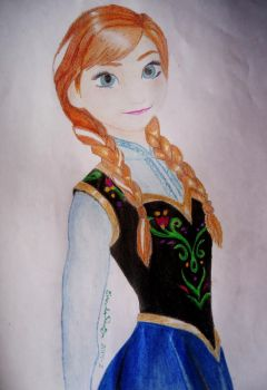 Princess Anna of Arendelle by EneidaSauza