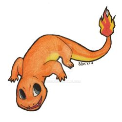 Charmander Pokemon collab by Sussi
