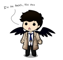 I'm an angel, you ass by blancci