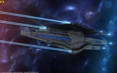 Alliance Destroyer Weapon Test by Euderion