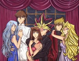 YGO couples in evening wear by Yamigirl21
