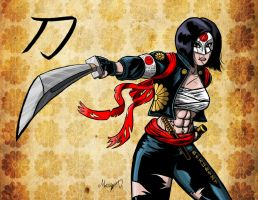 Suicide Squad's Katana Colored by MarioUComics