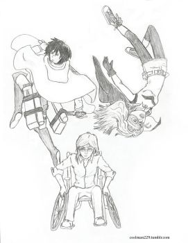 Mikasa, Misfit, and Oracle by coolman229