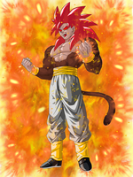 Super Saiyan 4 God Goku by EliteSaiyanWarrior