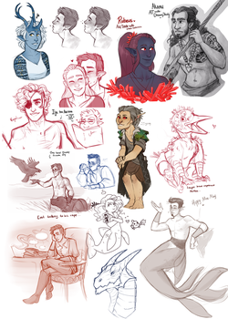 DnD| sketchdump XI by RomyvdHel-Art