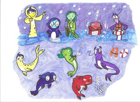 Inside Out Selkies by Scared2dream