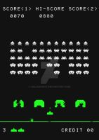 Retro Video Game Poster: Space Invaders by halo4guest