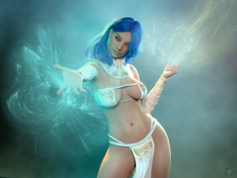 Blue Sorceress by version93