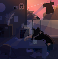 OC| Home After A long Day by RockenRiolu