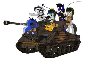 The Equestrian Royal Guards ver.2 (No Background) by xPhiL1998
