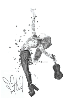 Lindsey Stirling Brave Enough Drawing Signed by MilanRKO
