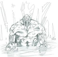 Man-Thing Sketch by GDEAN