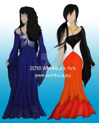 Illustrative dresses - ASTONE WORLD by Wol4ica