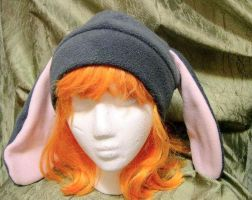 Grey Bunny hat by kittyhats