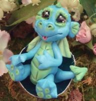 polymer clay dragon 1 by crazylittlecritters
