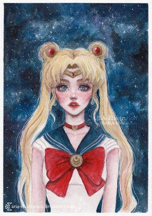 Sailor Moon by ARiA-Illustration