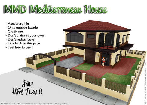 MMD Mediterranean House Stage [DL] by NyaLinaa