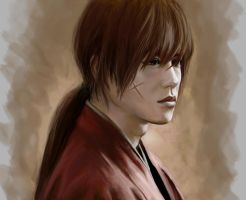 master of sword (rurouni kenshin) by PolliPo