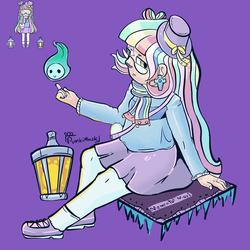 The pastel girl by PumkiMask