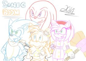 Sonic and Friends Sketch by Shadow4one