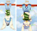 3 years of hanging upsidedown by Heise-kun