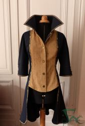 Corsair jacket front with collar up by Herilome